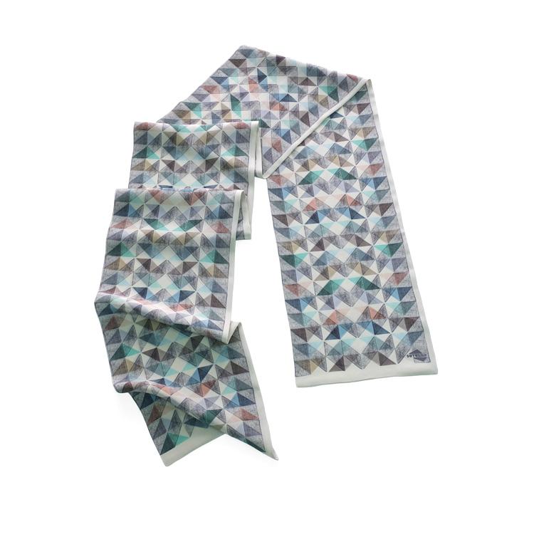INUTILES  fulard cold colours